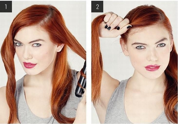 Estilos de peinado Peinado perfecto para un evento nocturno paso 1 y 2