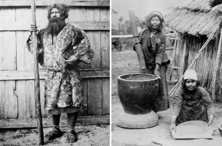 Así Lucían Las Personas Hace 100 Años Ainu, el pueblo indígena de Japón