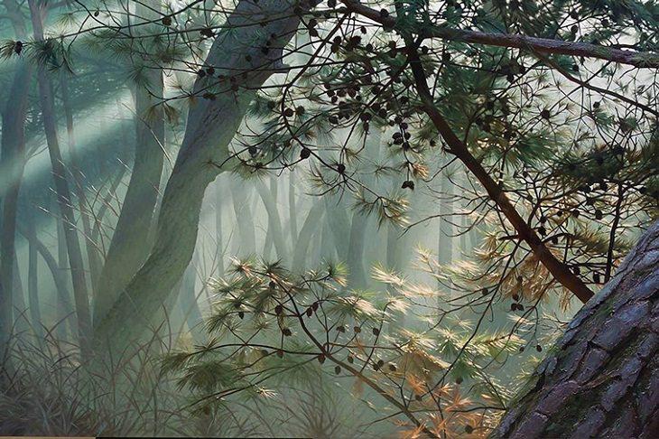 Pinturas De An Jung-hwan Naturaleza