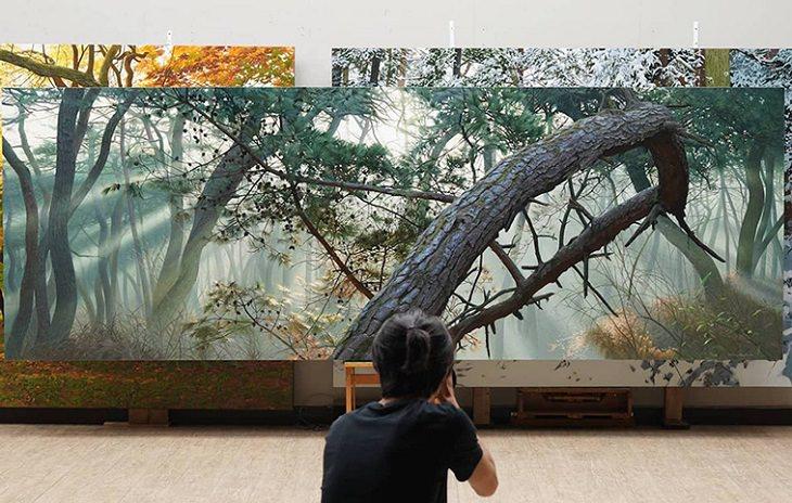 Pinturas De An Jung-hwan Árboles