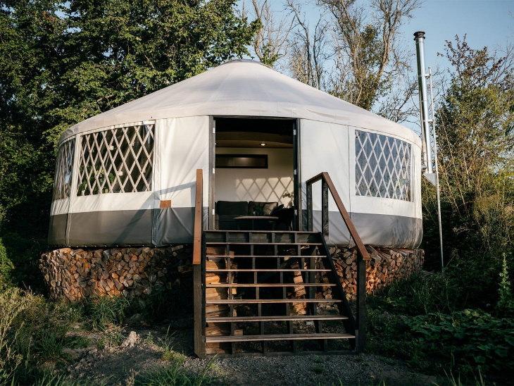 Hermosas Casas Diminutas Una yurta moderna