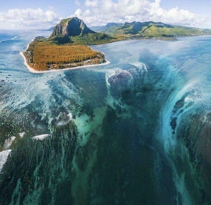 fotos de grandes cosas, cascada submarina