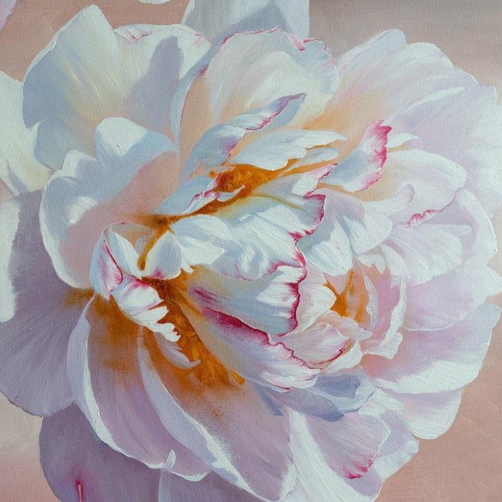 Pinturas Florales De Ira Volkova Flores blancas