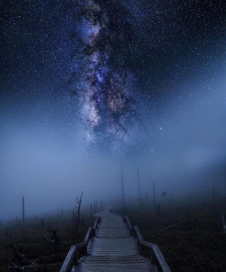Paisajes Nocturnos Escalera