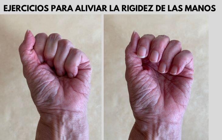 Ejercicios De Mano Para Aliviar La Artritis Estira las muñecas para aliviar la rigidez y el dolor