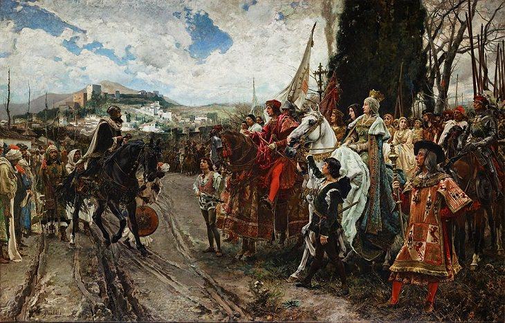 Francisco Pradilla Ortiz La rendición de Granada (1882)