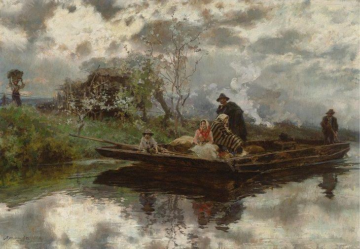 Francisco Pradilla Ortiz Niebla primaveral en Italia (1907)