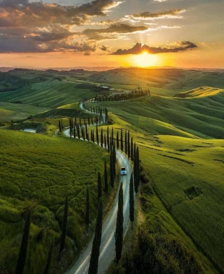 Imágenes Maravillas Del Mundo Una vista aérea impresionante en Toscana, Italia