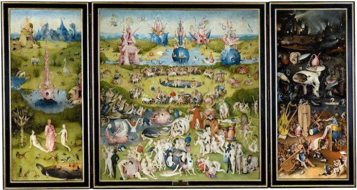 """Obras De Arte Espeluznantes """"El jardín de las delicias"""" de Hieronymus Bosch (circa 1500-1505)"""