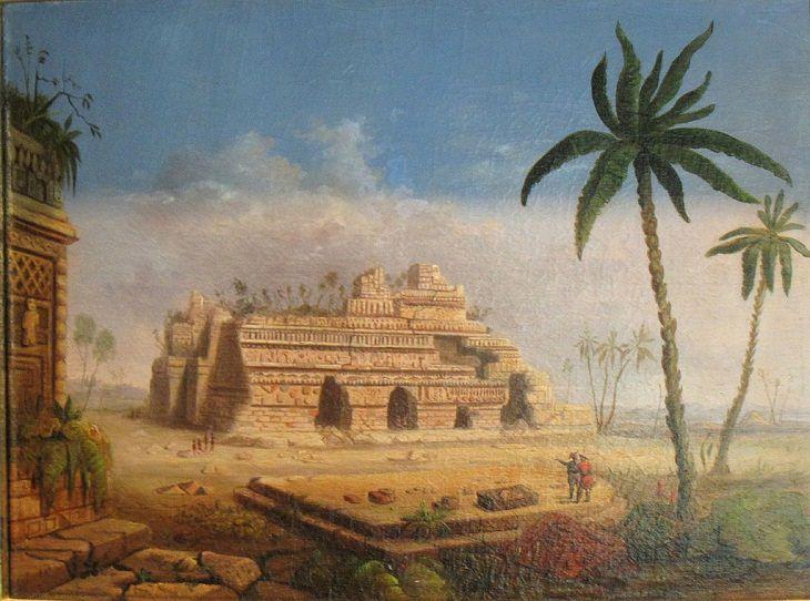 Robert S. Duncanson 2. 'Ruinas Mayas, Yucatán' (1848)