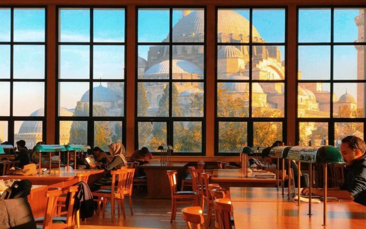 2. ¡Una vista espectacular desde la biblioteca de la Universidad de Estambul!