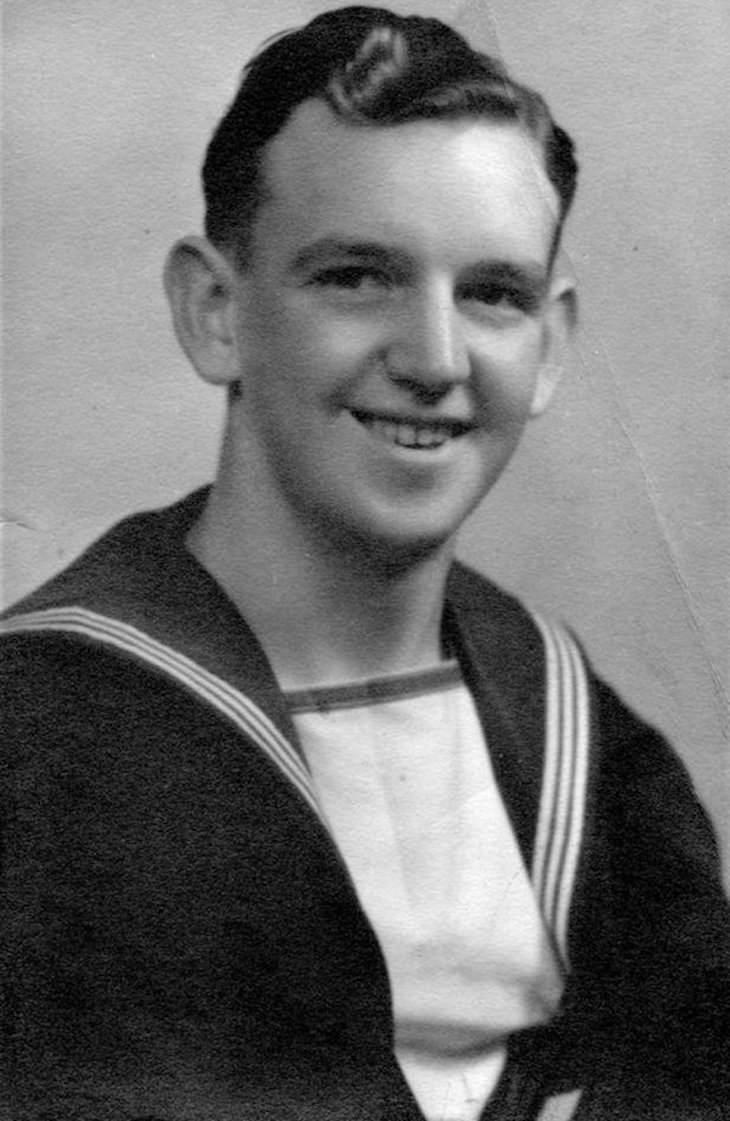 Postal De La Segunda Guerra Mundial Es Entregada En 2021 Bill Caldwell joven
