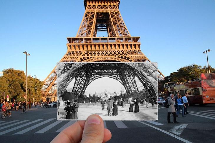 Fotografías De París Antes y Después Tour Eiffel (Torre Eiffel), 1900