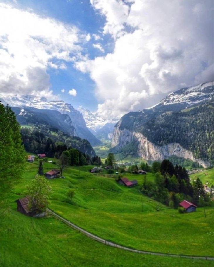 IImágenes De La Gloriosa Naturaleza Impresionantes vistas desde Lauterbrunnen, Suiza.