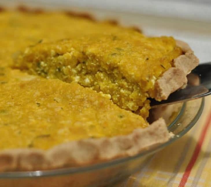 Receta de pastel de tofu y kabocha o calabacín