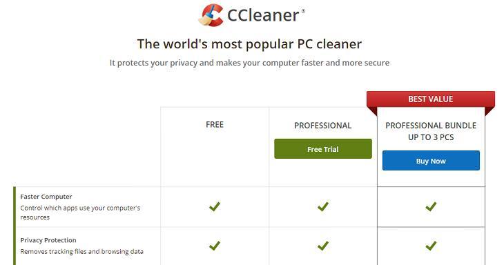 1. CCleaner eliminar estos programas innecesarios