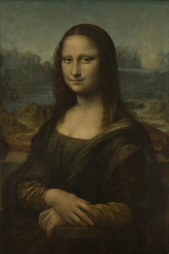 Obras De Arte Del Museo De Louvre La Mona Lisa de Leonardo Da Vinci (1503-1518)