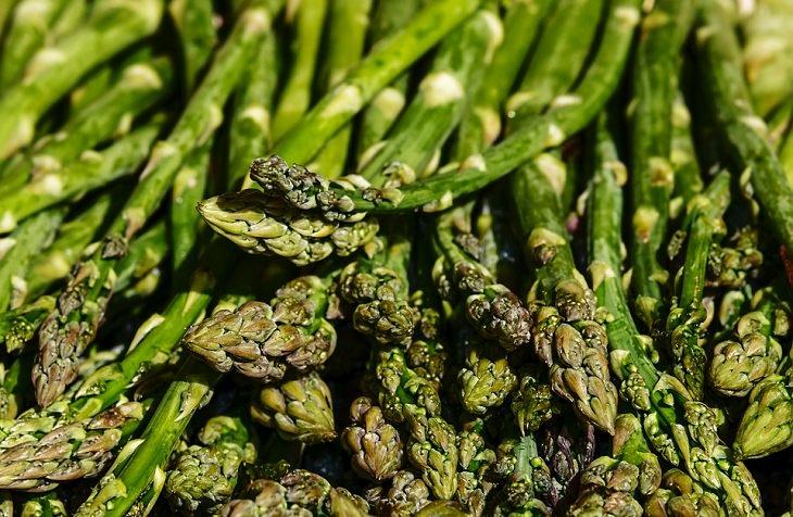 1. Espárragos (Asparagus officinalis)