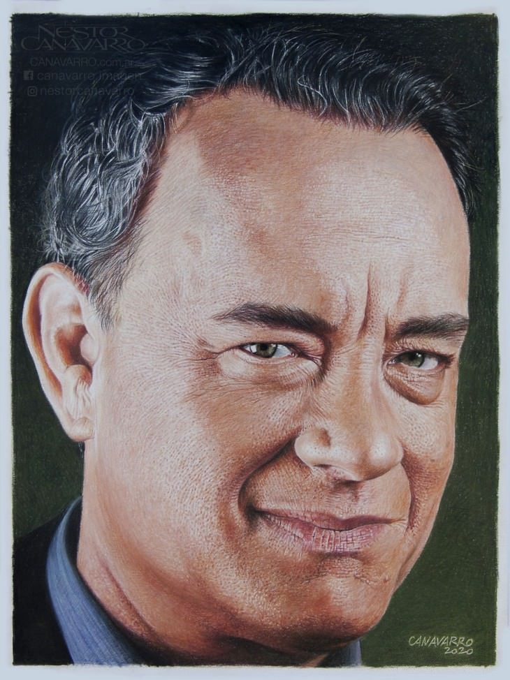 Asombrosos Retratos De Celebridades De Hollywood Tom Hanks