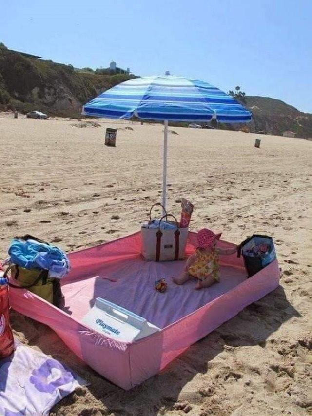3. Utilice una sábana ajustable en la playa para evitar que se manche todo con arena.