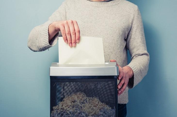 la trituradora de papel