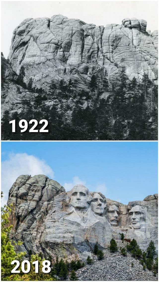 Increíbles Fotos De Cómo El Tiempo Lo Transforma Todo Monte Rushmore