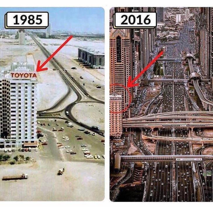Increíbles Fotos De Cómo El Tiempo Lo Transforma Todo Dubai, Emiratos Árabes Unidos