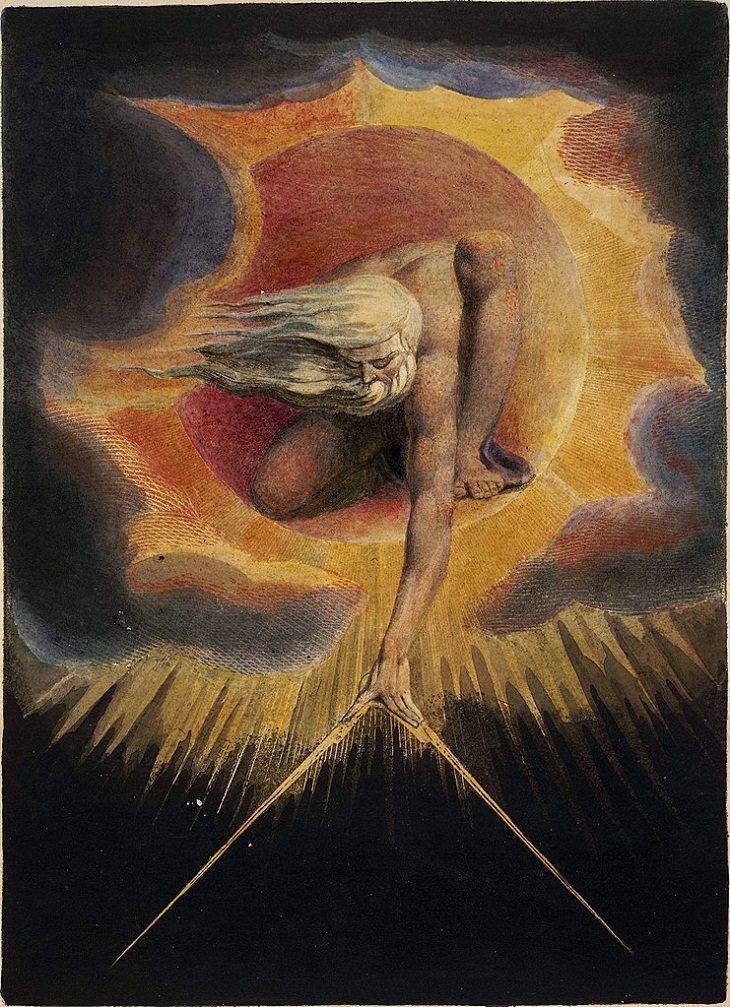 """Pinturas De William Blake """"El Anciano de Días"""" (1794)"""