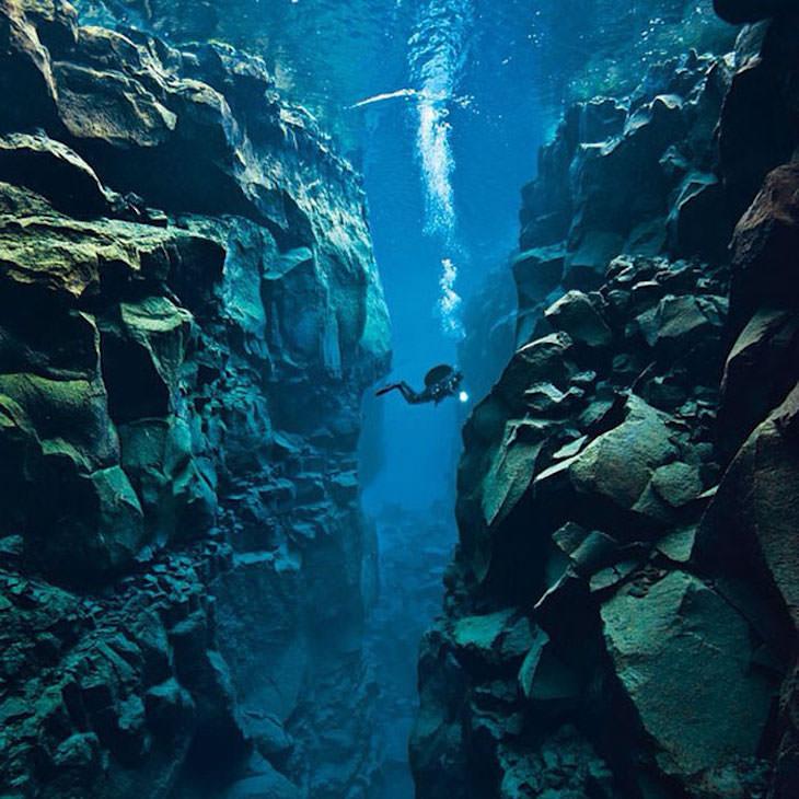 11 Datos Curiosos Sobre Islandia Islandia es el único lugar del mundo donde puedes nadar entre 2 placas tectónicas