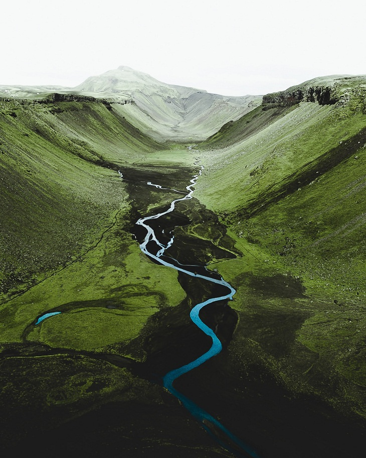 Fotos Aéreas De Islandia Río