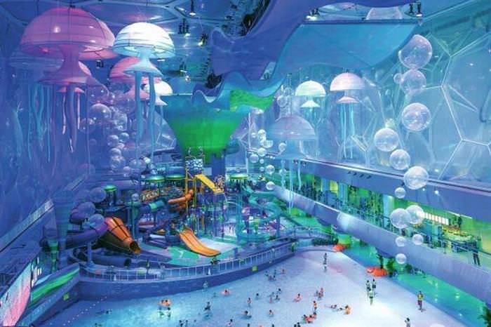Historias Contadas Con Fotos Asombrosas . El cubo de agua de los Juegos Olímpicos de Beijing 2008 se convirtió en un parque acuático increíble