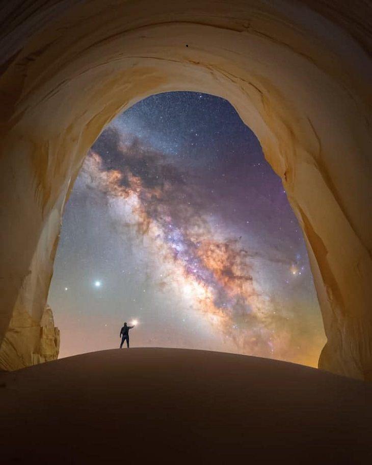"""Asombrosas Fotografías De La Vía Láctea """"Cámara de luz"""" de Spencer Welling. Utah, Estados Unidos"""