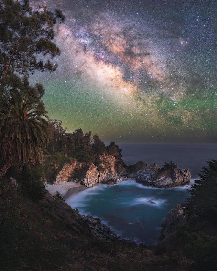 """Asombrosas Fotografías De La Vía Láctea  """"Paraíso"""" de Marcin Zajac. Bur Sur, California, Estados Unidos"""