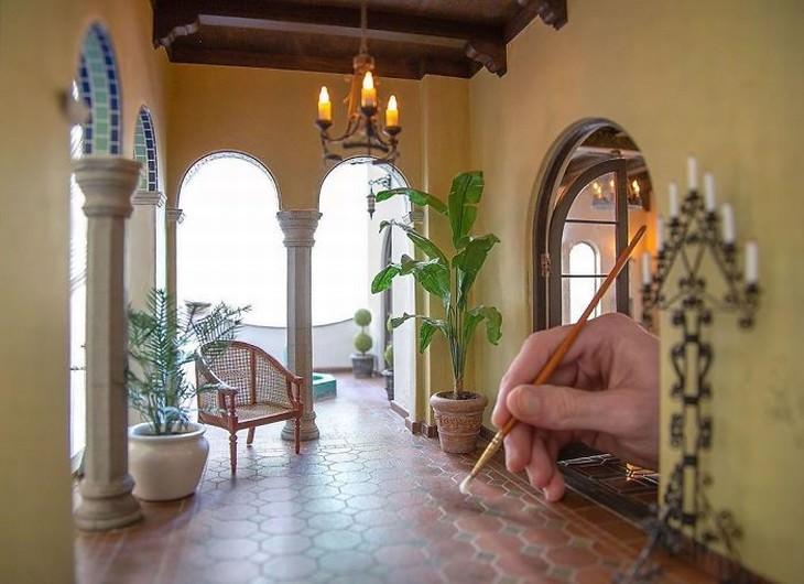 Diseños De Habitaciones Antiguas En Miniatura Una logia de estilo español de la década de 1920