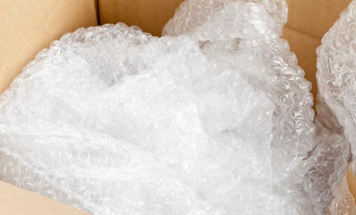 2. Plástico de burbujas no se recila