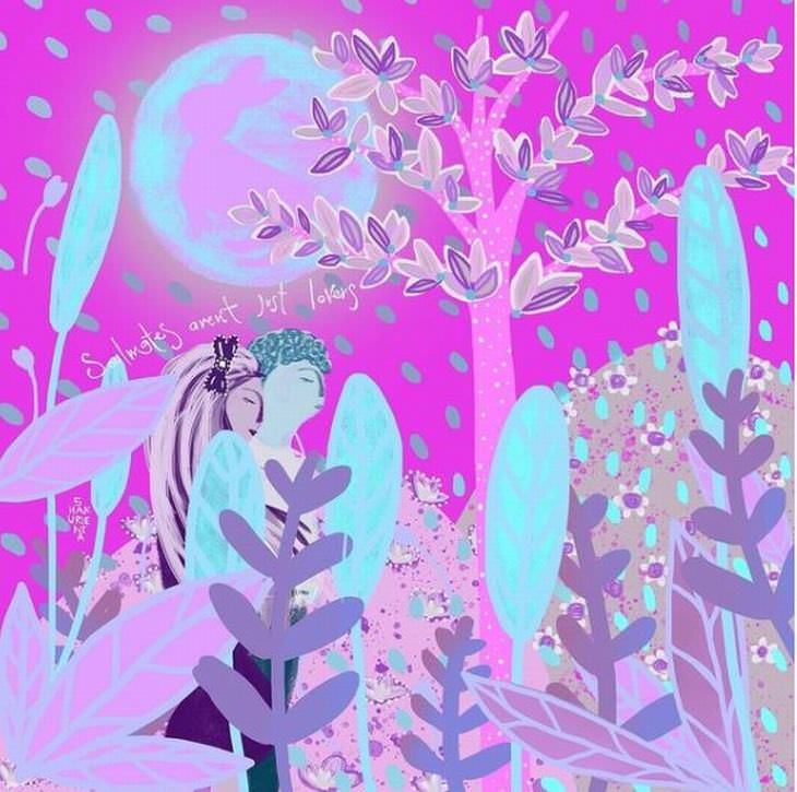 Ilustraciones De La Naturaleza Cindy Shakuri Almas gemelas
