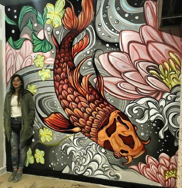 Vívidos Murales de Fio Silva pez
