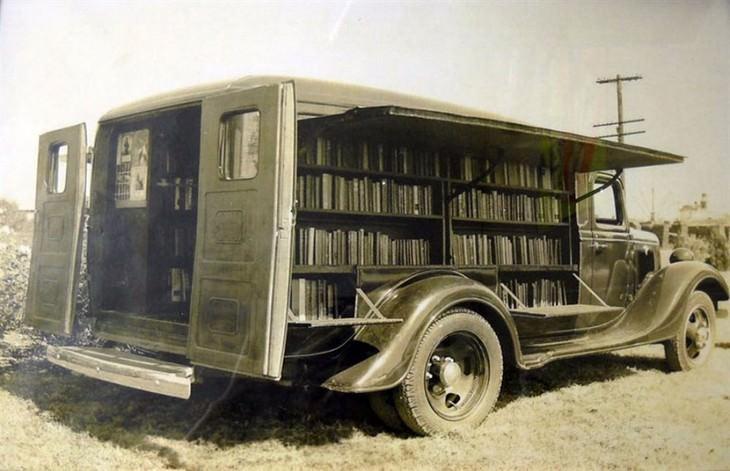 Fotografías De Bibliotecas Móviles De La Antigüedad Biblioteca móvil, 1925