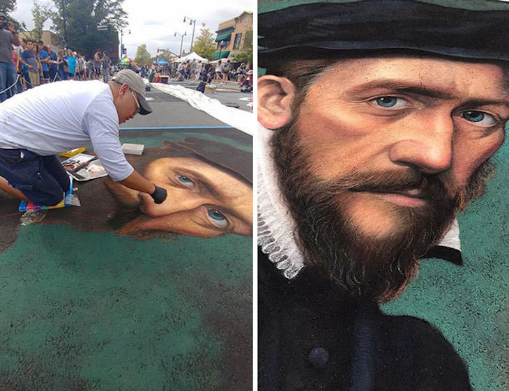 Realistic Chalk Portraits by Cuong Nguyen