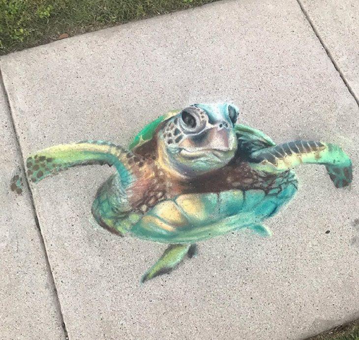 1. Esta pequeña tortuga se completó justo antes del atardecer.
