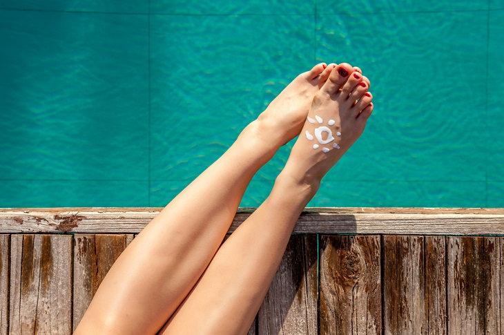 3. La parte superior de tus pies