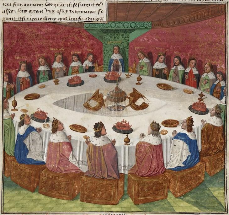 6 Lugares y Objetos Famosos Que En Realidad No Existieron Mesa redonda del rey Arturo