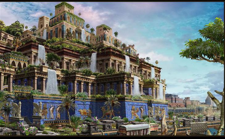 6 Lugares y Objetos Famosos Que En Realidad No Existieron Los jardines colgantes de Babilonia