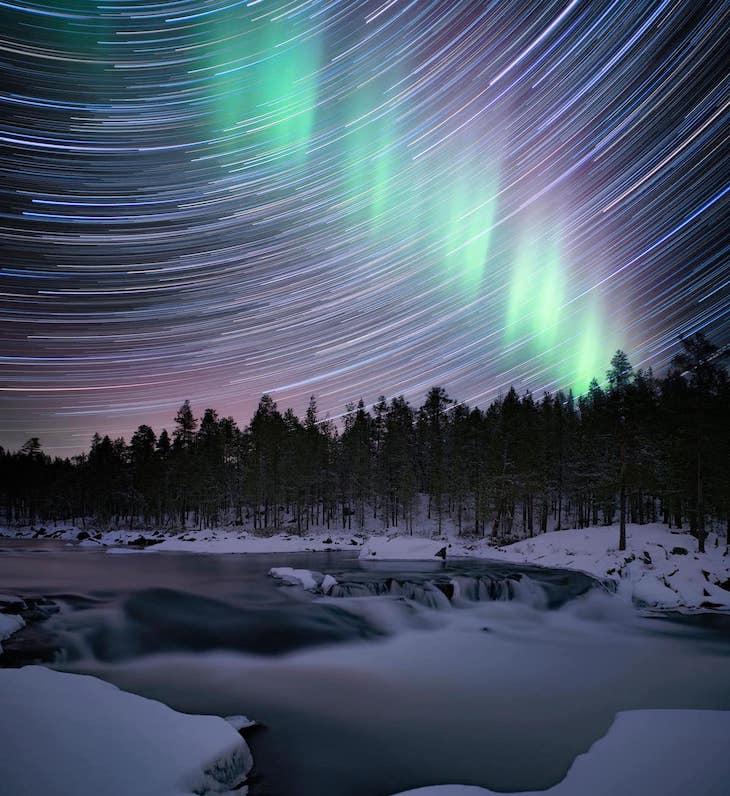 Finalistas Del Concurso De Fotografía De Astronomía Del Año Cascada, por Anna Dobrovolskaya-Mints de Israel