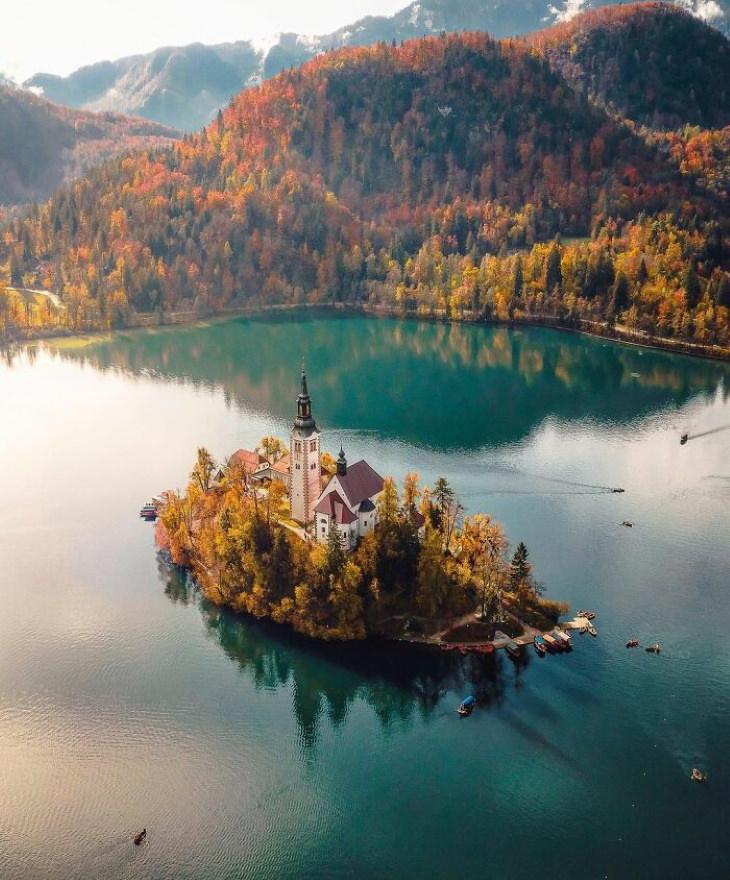 19 Lugares Espectaculares Del Planeta Tierra Lago Bled, Eslovenia