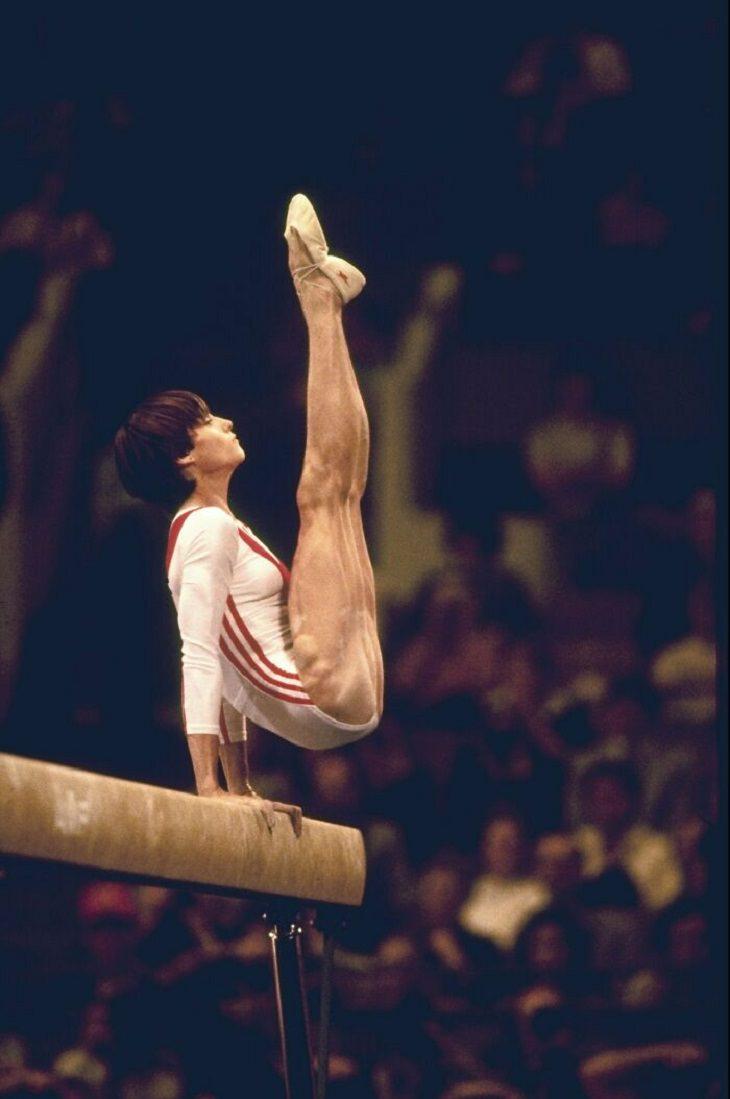 12 Fotos Que Reflejan El Esfuerzo De Los Atletas Olímpicos Nadia Comaneci
