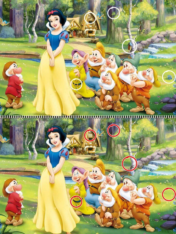 encuentra las diferencias Disney