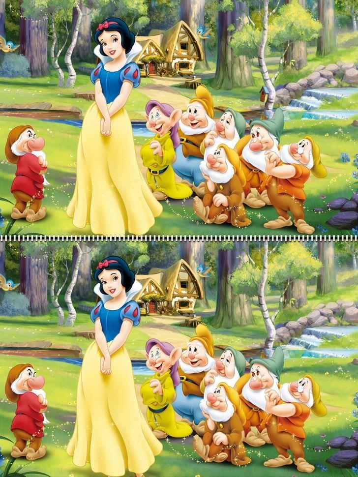 encuentra las diferencias Disney Snow White
