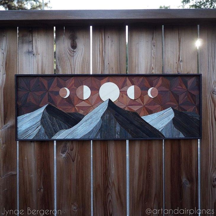 Arte En Madera Montañas