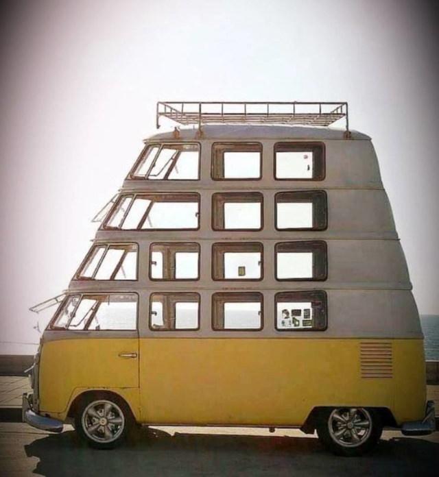 Autos Desastrosos Un bebé de una furgoneta Volkswagen vintage